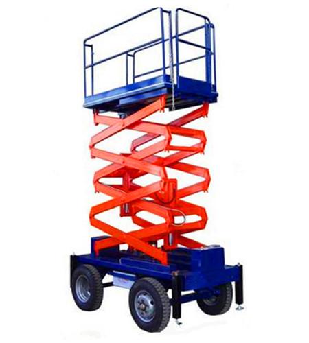 四轮移动简易剪叉式升降平台